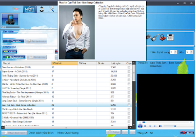 GetMusic phần mềm nghe nhạc và xem video trực tuyến từ Zing, NhacCuaTui, YouTube...! GmPlayListNCT