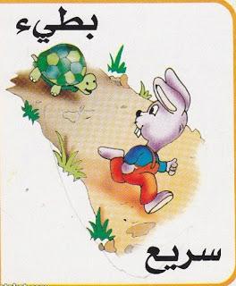 لتعليم الاطفال الصفات المضادة بالرسومات الشيقة باللغة العربية حضانة KG1 & KG2 15