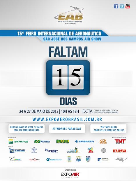 15ª Feira Internacional de Aeronáutica ComunicadoEAB09052012Faltam15dias