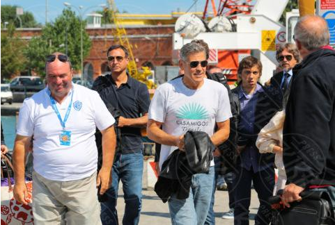 George Clooney arrives in Venice Venise