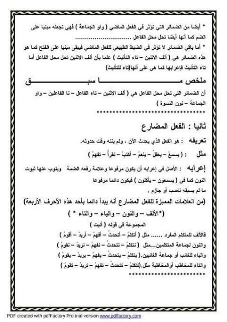 """ملف راااااائع شامل كل """"قواعد اللغة العربية للمرحلة الابتدائية"""" 4"""