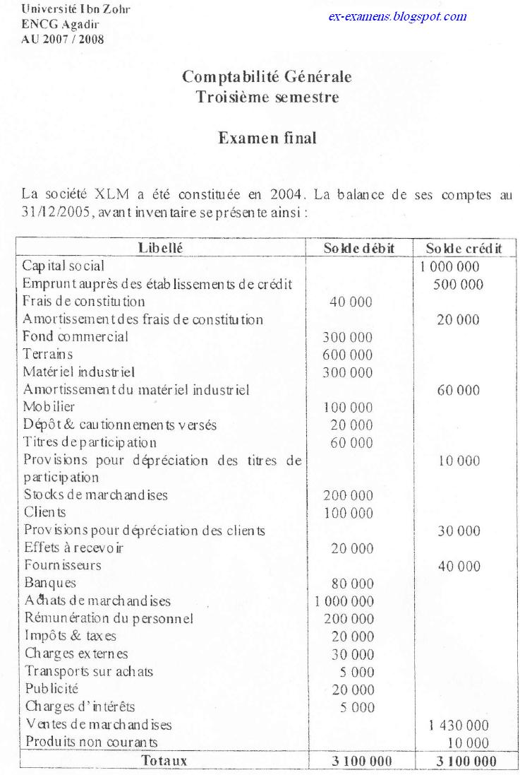 comptabilité -  Examen de comptabilité générale S3 ENCG  Comptabilite-generale1