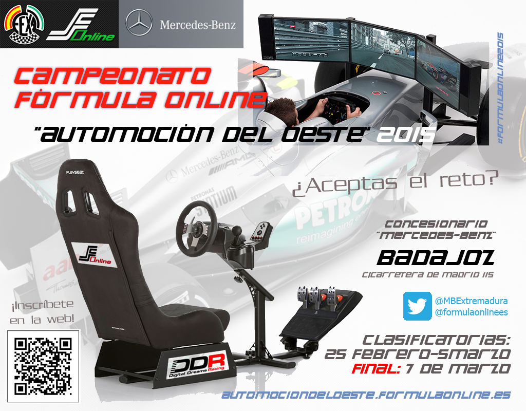Primer campeonato presencial OFICIAL a nivel mundial... Y será en Extremadura!! FormulaOnlineAOSA2015