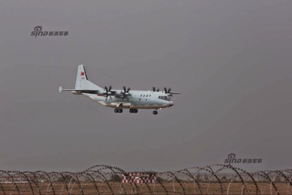 Zhuhai 2014 (11 au 16 Novembre) -  Airshow China 2014      Shaanxi%2BY-9%2Btransport%2Baircraft%2Barrives