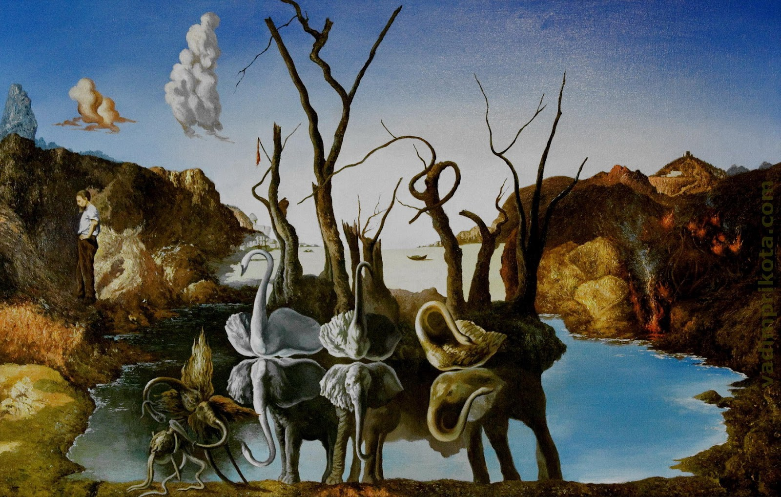 [Jeu] Association d'images - Page 4 Dali_Swans_Reflecting_Elephants