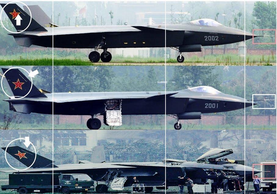 المقاتلة الصينية J-20 Mighty Dragon المولود غير الشرعي Third%2BJ%2B20%2Bprototype%2Bemerges
