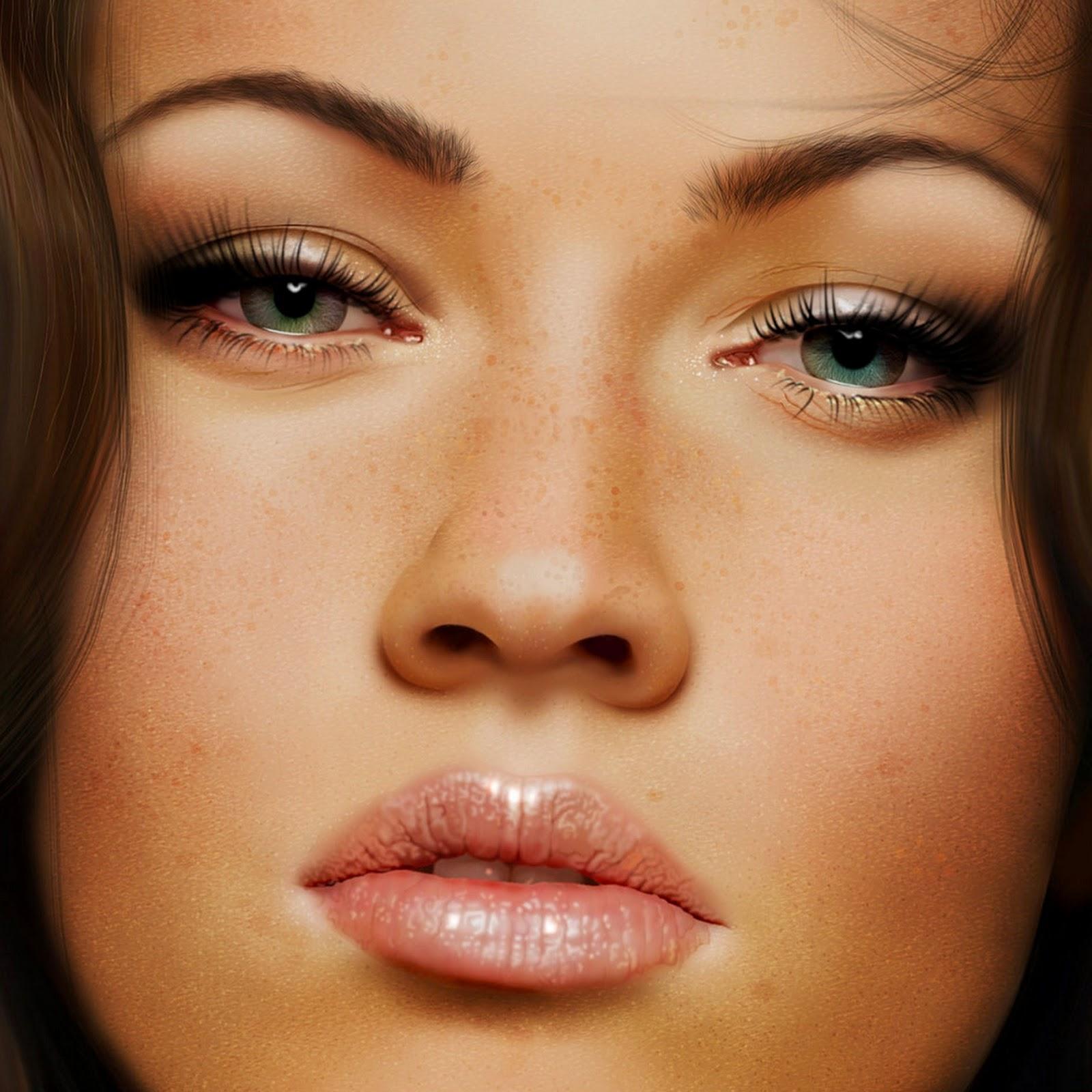 Rostros femeninos Pintura-al-oleo-rostros-mujeres-perfectas