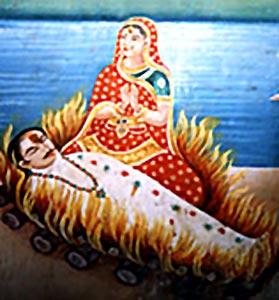 التضحية بالزوجات  Sati_12637