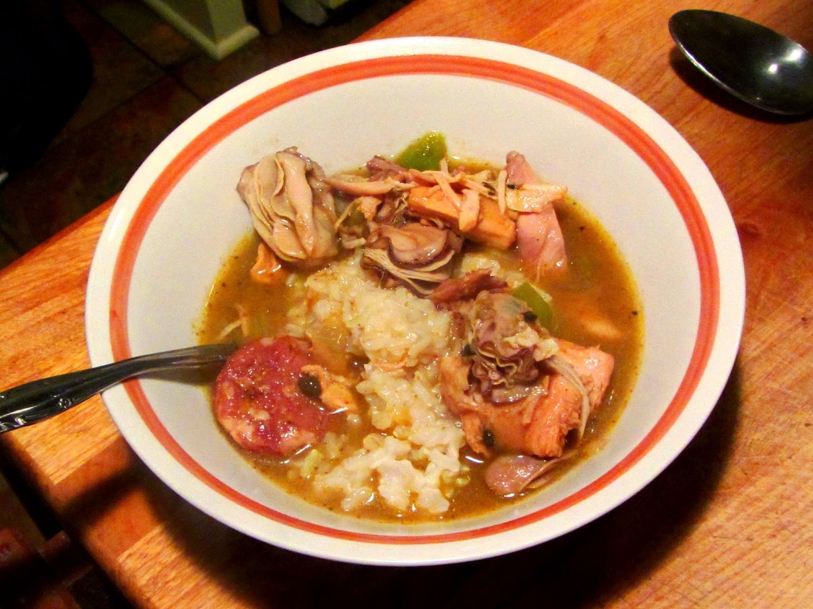 Chicken, Oyster Gumbo With Home Made Andouille Sausage  062