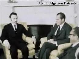 هواري بومدين يقول لنيكسون : تعملون على تأسيس إسرائيل ثانية في شمال العراق  Nixon