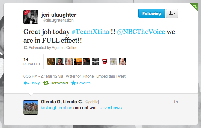 [The Voice II] Coreografos de Christina Aguilera estan trabajando con el #TeamXtina Picture%2B1