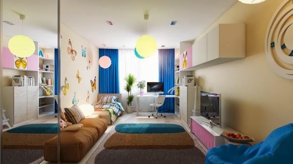 غرف نوم أطفال بألوان وتصميمات جميلة 8-Butterfly-decor-room-600x336