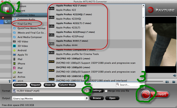 Top on Transcode/Edit AVCHD files into Final Cut Pro   Choose-format-to-fcp