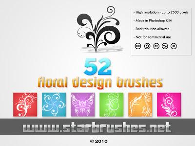 فرش فوتوشوب زهور و ورود مزخرفة floral design brushes Arab-Design
