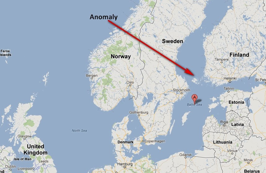 The Baltic Sea Anomaly - Connecting the dots of Courtney Brown's March Announcement  Baltic-anomaly-location