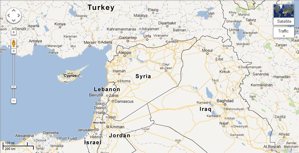 Guerre Civile en Syrie - Page 2 Middle%2BEast%2Bmap%2Bwith%2BSyria%2Band%2BTurkey