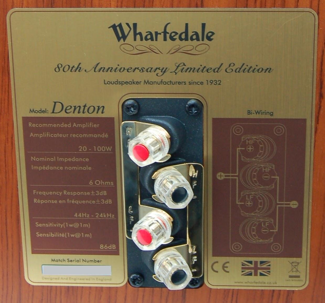 Wharfedale denton 80th aniversary Rear