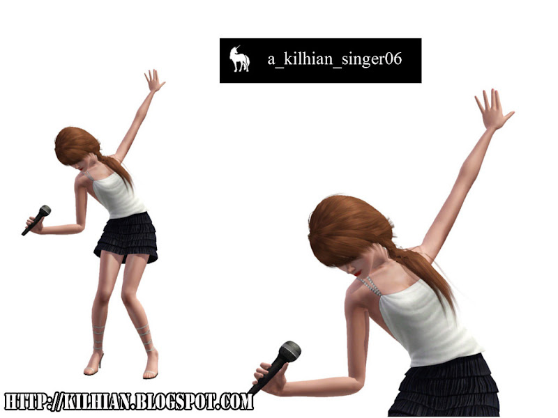 Pose Set N°01 - On Stage! by Kilhian Singer06