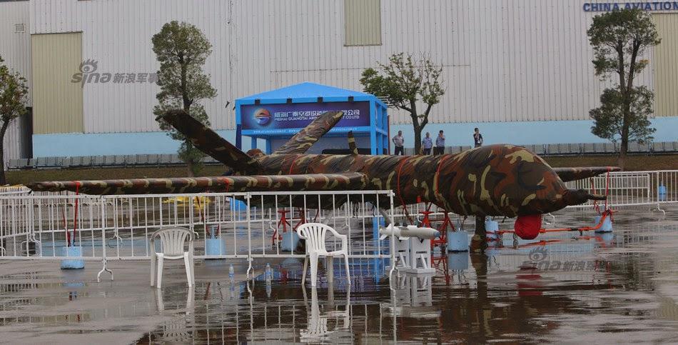 Zhuhai 2014 (11 au 16 Novembre) -  Airshow China 2014      Chinese%2BPterodactyl(MQ%2B9%2BPredator)%2Bdrone%2Bwith%2Bcorresponding%2BHellfire%2Bmissile%2B1