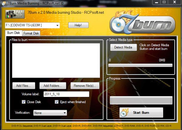 "7Burn Burning Studio 2.0 - ""κάψετε"" τα αρχεία σας 7Burn1"