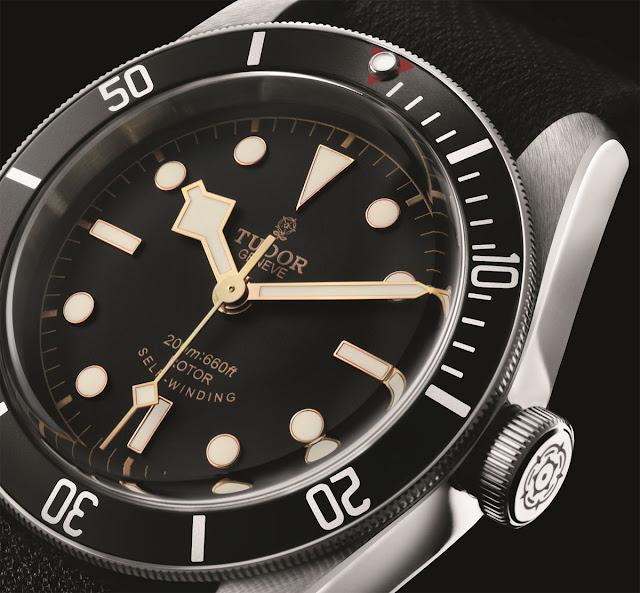 """Tudor's new Black Bay """"Black"""" Tudor-Heritage-Black-Bay-Black-79220N-dial"""