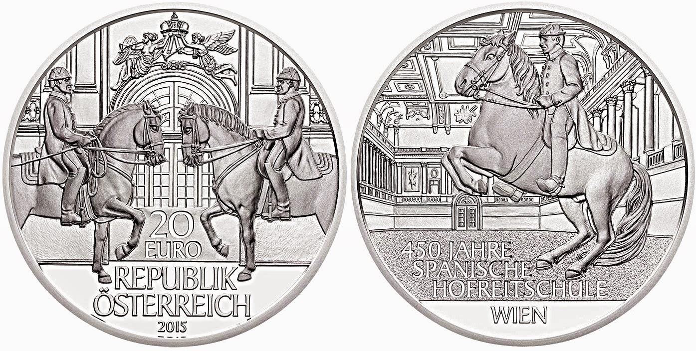 Monedas de la Escuela Española de Equitación  20eaus