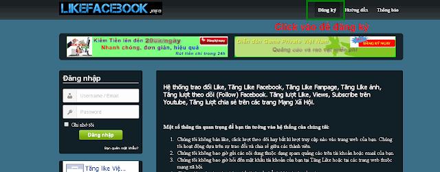 Hướng dẫn cách tăng like sub facebook, google +, website miễn phí, hiệu quả  1