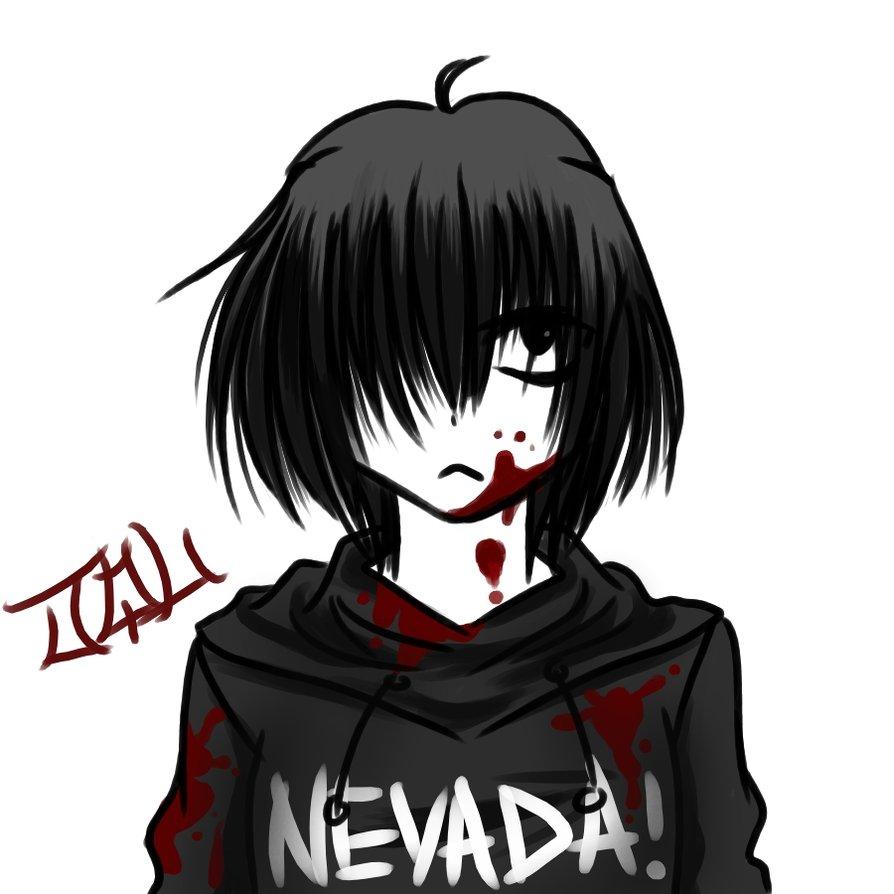 Nevada-Tan, a pequena assassina Nevada_Tan__s_Bored_by_hellslilangel