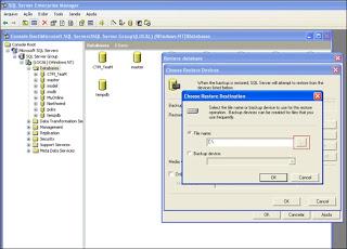 Como Restaurar uma Database no SQL Server 2000 Part6