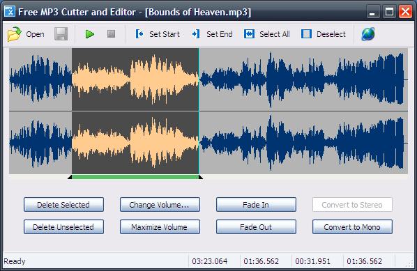 برنامج تقطيع ملفات الصوت وعمل نغمات الموبايل MP3 Cutter and Editor v2.7 LargeImg