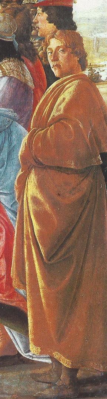 ¿Quiénes son los personajes del cuadro 'La adoración de los Reyes Magos'? Sandro Boticelli, 1475 Botticelli
