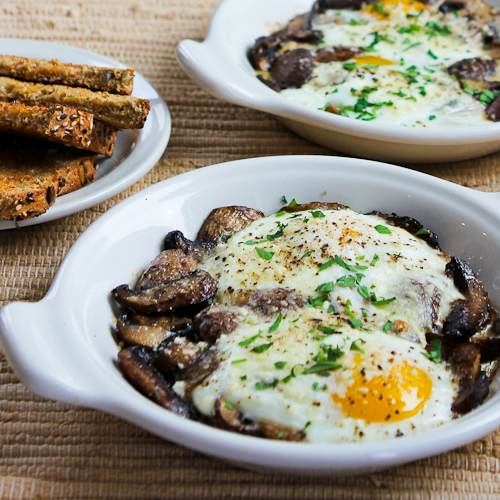Recipe for Baked Eggs with Mushrooms and Parmesan 1-baked-eggs-mushrooms-500x500-kalynskitchen