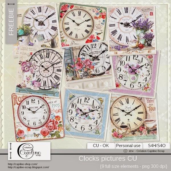 Freebie - Shabby clocks pictures CU  Freebie_cajoline_clockspictures_cu