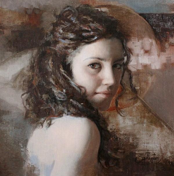 A la niña del cerro Sombrero-II Pinturas-rostros-mujeres---