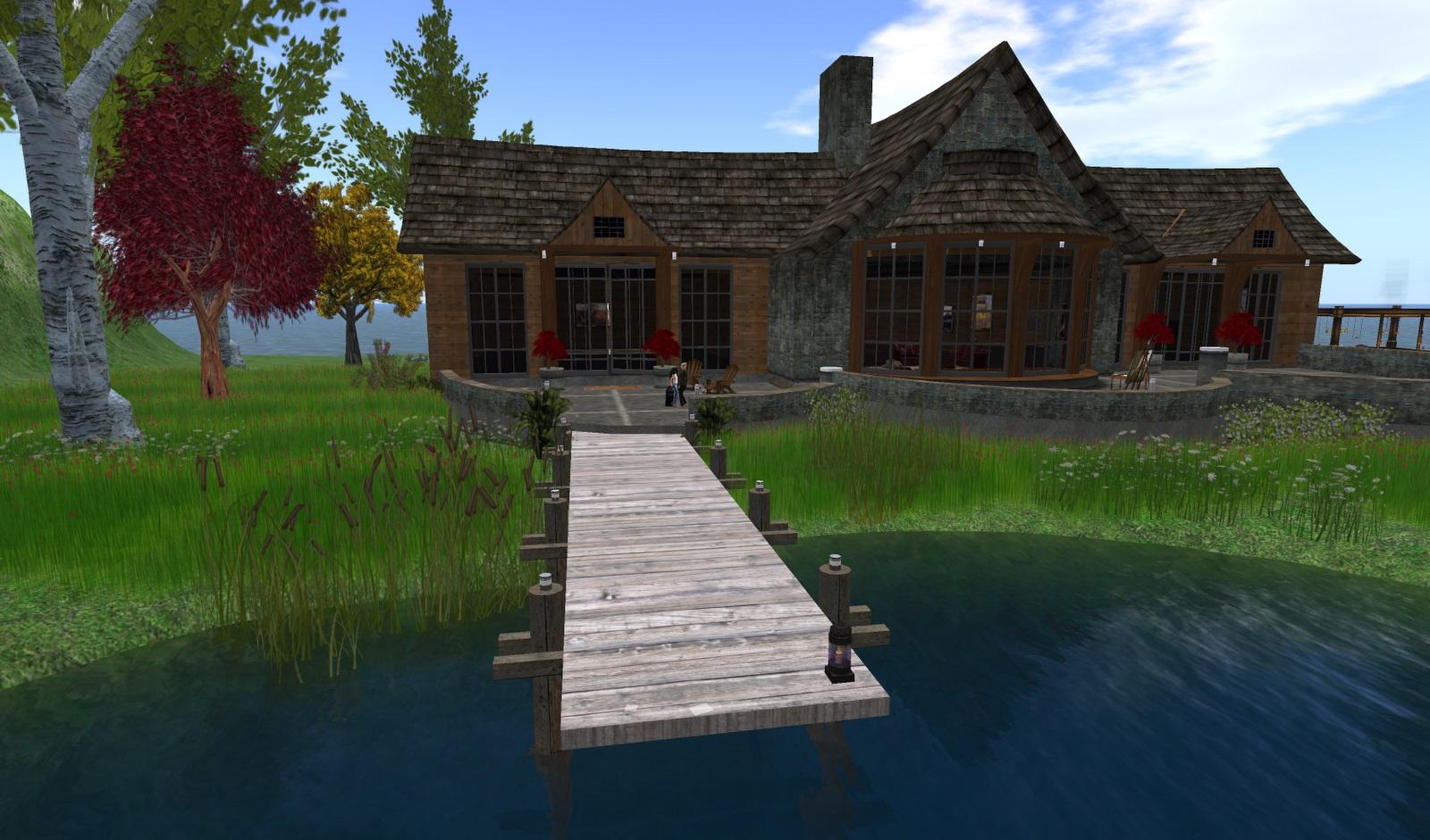 ANTOLOGÍA--CADÁVER EN PROSA. Diseno-de-casa-de-campo-rustica-con-muelle-a-orilla-del-lago