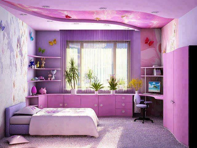 غرف بلون البنفسج Interior-decoration-bedroom-for-teenage-girls-purple-colors-decorations