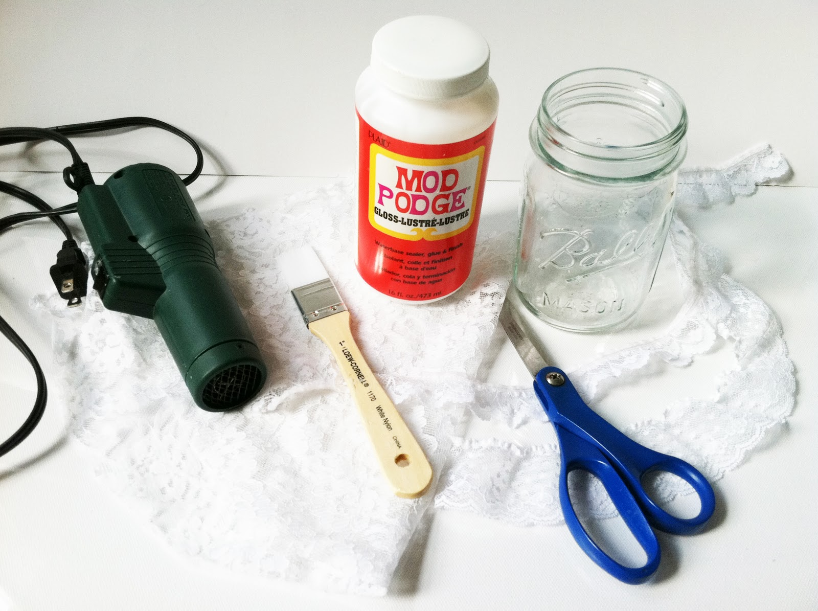 Project DIY: Lace Mason Jars  IMG_6120