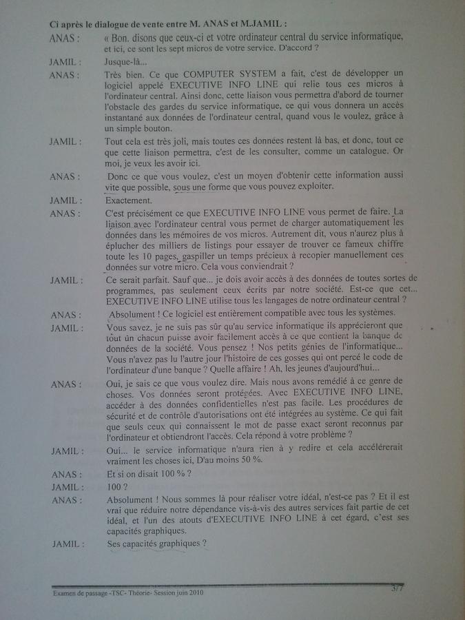 Examen de Passage TSC Pratique et Théorique 2010 003