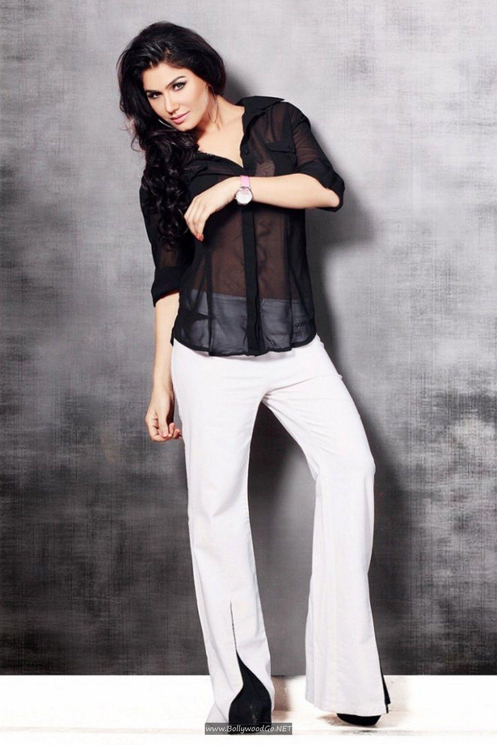 Kangana Sharma Hot Images in Black Shirt And White Pent Kangana-Sharma-Hot-Images-8