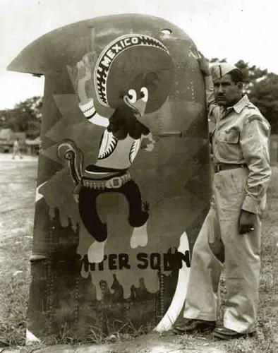 Le 201st Mexican Fighter Squadron :  Des pilotes mexicains  Pancho-pistolas
