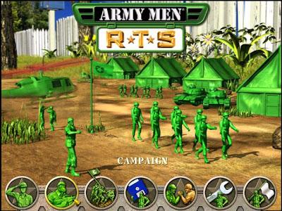 تحميل لعبة الجيش الاخضر Army Men RTS برابط ميديا فاير مباشر وصاروخي بحجم 140 ميجا فقط Armymenrts1