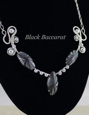 Collana in Rame argentato e perle di vetro cerato e pasta polimerica 2Collar-con-perle-vetro-cer