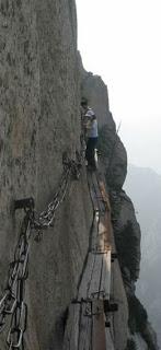 HuaShan , el sendero mas peligroso del Mundo .  Hua-shan10