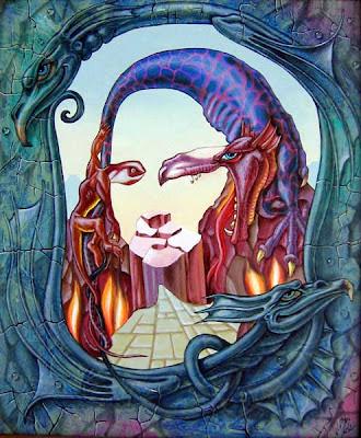 Optičke Iluzije Mona-lisa-fire