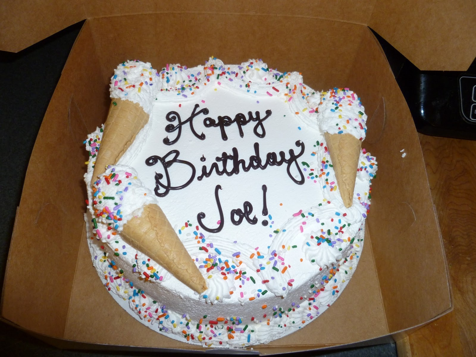 Happy birthday, Joe! JoeBirthdayCake