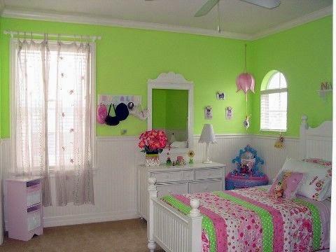 MI  DECORACIÓN  IDEAL EN  VERDE Quarto-menina-parede-verde