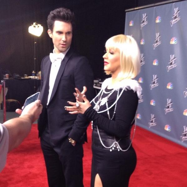 [The Voice 3] [Fotos+Videos] Christina Aguilera y Adam Levine en The Voice Press Room Normal_93%257E5