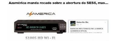 AZAMERICA - AZAMERICA NÃO VAI ABRIR NO SES6  77858