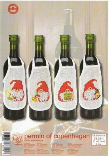 Совместная вышивка. Фартуки на бутылки 9670c777f20f
