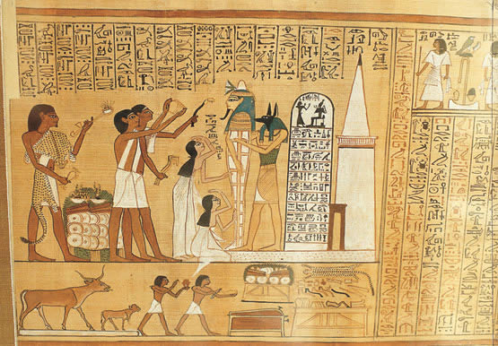 2. Técnicas y medios de la pintura y el dibujo Papiro_egipcio